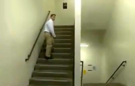 Increíble ilusión en las escaleras
