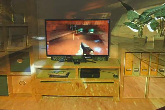 IllumiRoom de Microsoft convierte el salón en una enorme pantalla