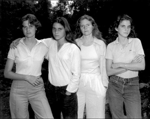 Retratos de 4 hermanas durante 36 años