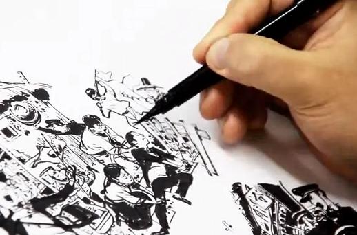 Impresionante la habilidad de este hombre para dibujar