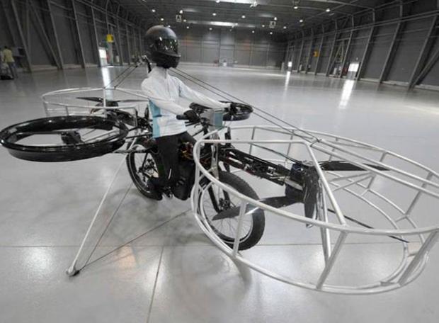 Presentan una bicicleta que puede despegar, mantenerse en el aire y aterrizar sin problemas