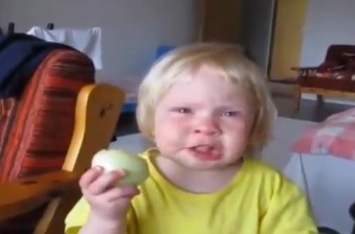 El amor de una niña por las cebollas