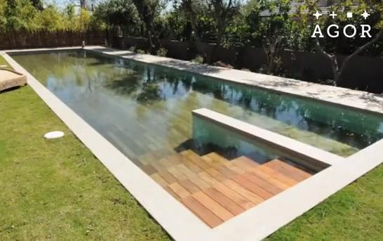 La piscina de lujo que aparece y desaparece