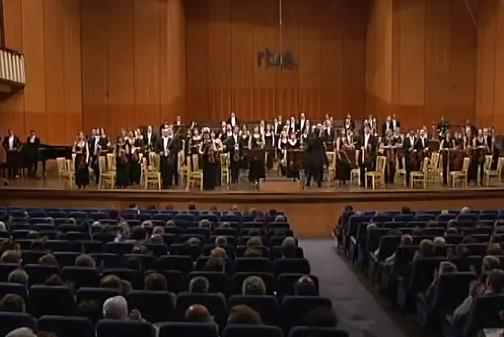 El público del concierto pide a gritos que la orquesta de RTVE sea pública