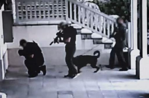 Kim Dotcom publica un vídeo de la redada policial a su mansión