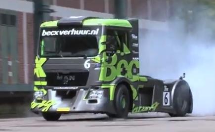 Michiel Becx: Gymkhana con un camión