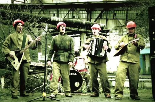 ''Du hast'' de Rammstein tocada por unos mineros