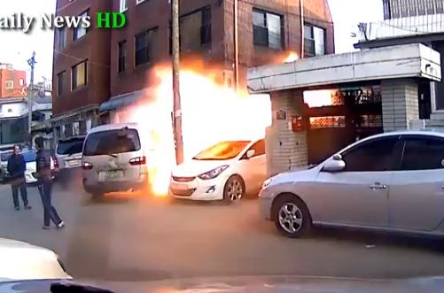 Explosión de gas en un edificio de Corea del Sur
