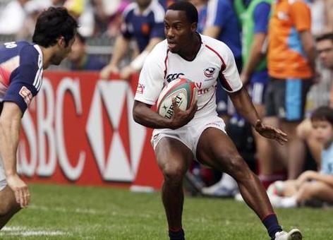 Esto es lo que ocurre cuando pones a un sprinter a jugar al rugby...