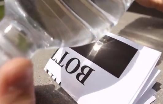 Cómo hacer fuego con una botella de agua