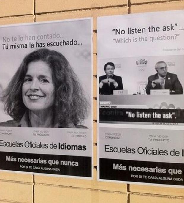 Ana Botella, protagonista de una campaña en defensa de las escuelas oficiales de idiomas de Madrid