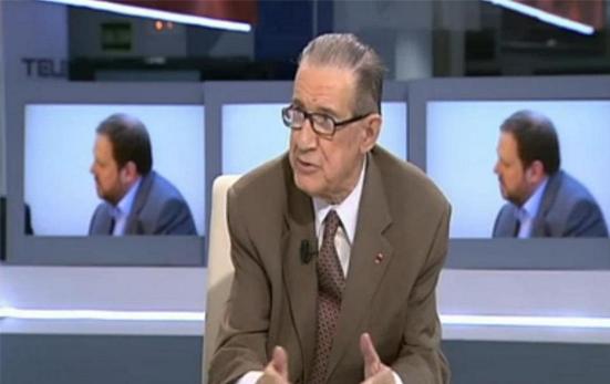 El economista Juan Velarde diciendo barbaridades sobre bombardear Cataluña