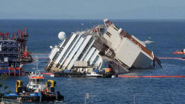 Time-lapse del reflote del Costa Concordia