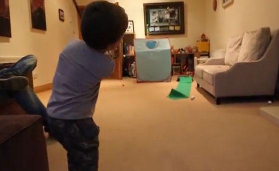 Michael Patton, un niño de 3 años, ¿nuevo prodigio del golf?