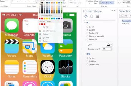 ¿Se diseñó el iOS 7 utilizando Microsoft Word?