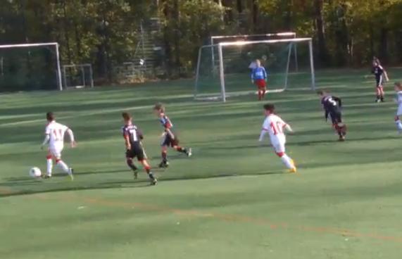 Impresionante gol en el fútbol infantil, Alemania