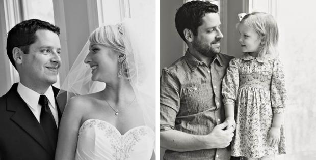 Conmovedor homenaje a su mujer fallecida: Recrea las fotos de su boda con su hija de tres años