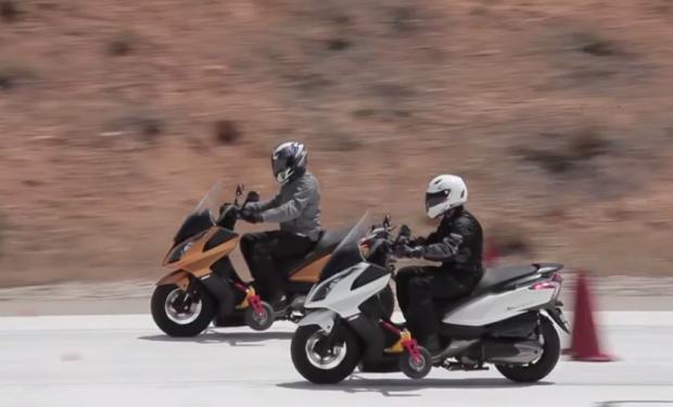Frenada de scooters con y sin ABS