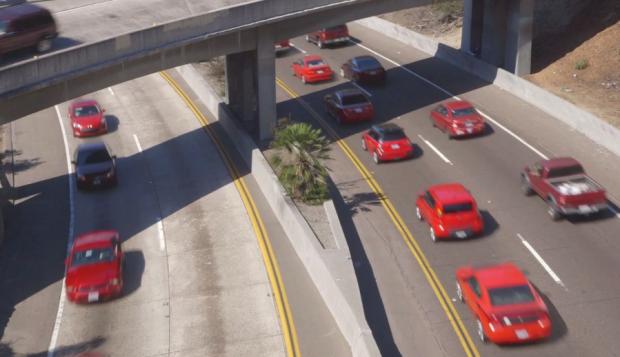 El tráfico reordenado por colores