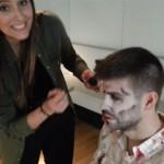 Una fan convierte en zombie a Gerard Piqué
