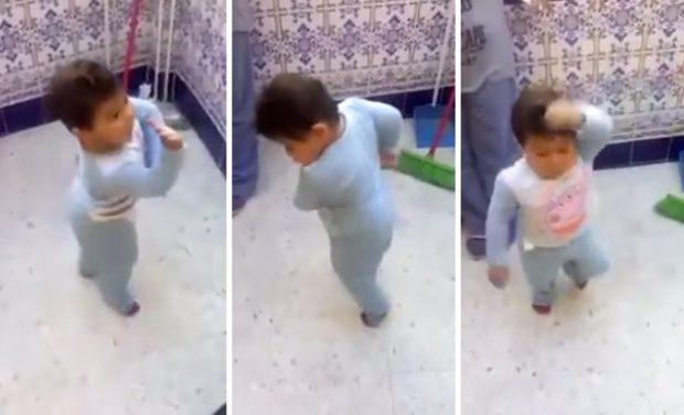 Bebé gitano bailando y cantando por bulerías (Vídeo)