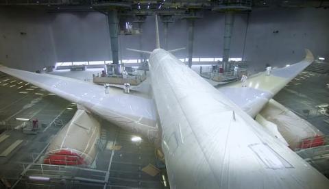 Así es como pintan un Airbus A350 XWB