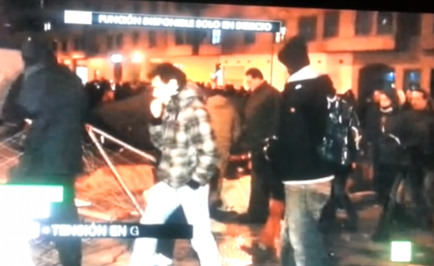 Reportera de La Sexta en las protestas de Gamonal (Vídeo)