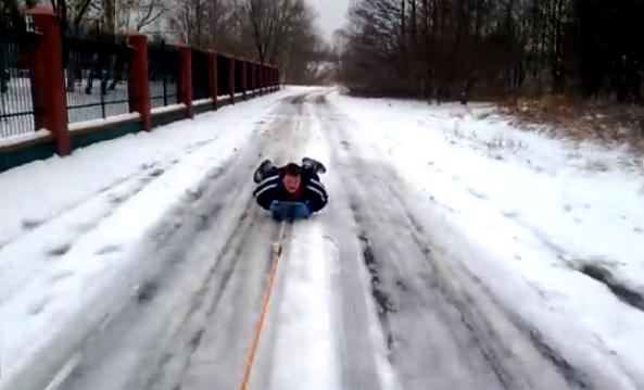 Así juegan con la nieve en Polonia