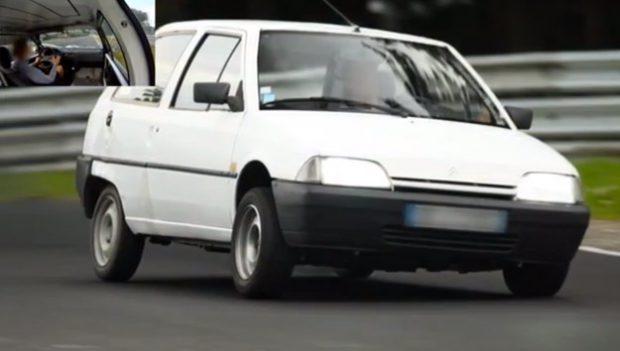 Un Citroën AX 1.4 D de 1993 se marca un 9:55 en Nürburgring