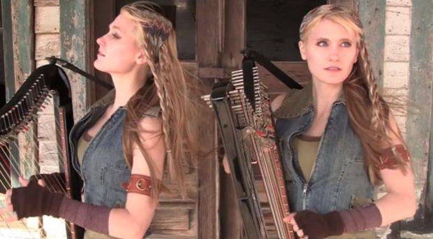 El tema de The Walking Dead interpretado en arpa por estas dos gemelas