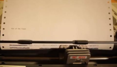 ''Eye of the tiger'' con una impresora matricial