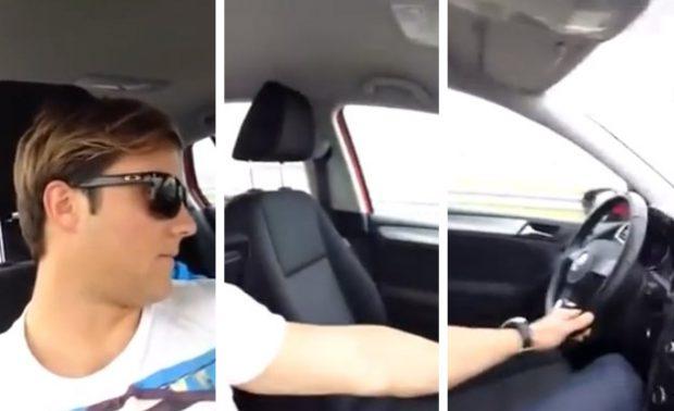 El joven que se grabó conduciendo desde el asiento del copiloto se entrega a la Policía