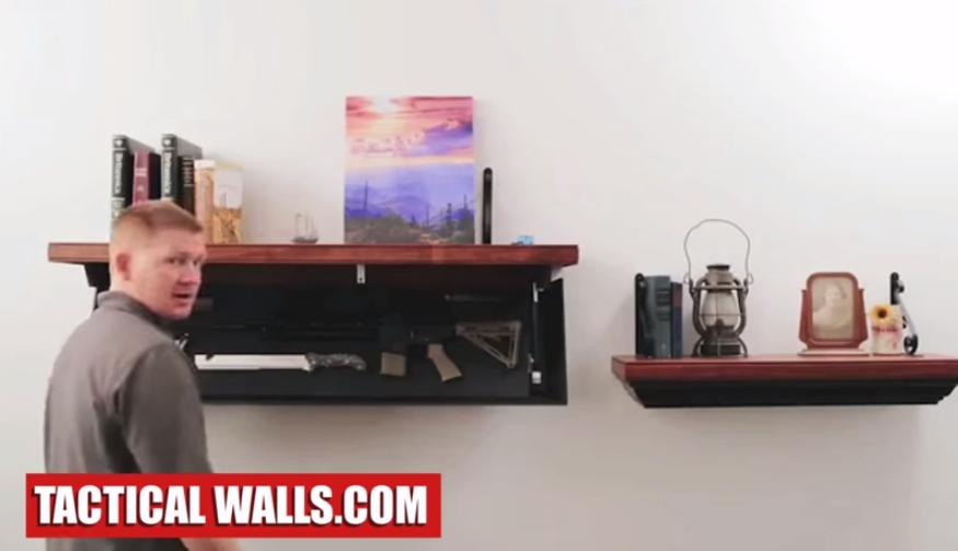 Muebles para esconder tus armas en casa for Barnizado de muebles a pistola