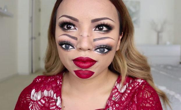 maquillaje doble cara halloween - Maquillajes De Halloween