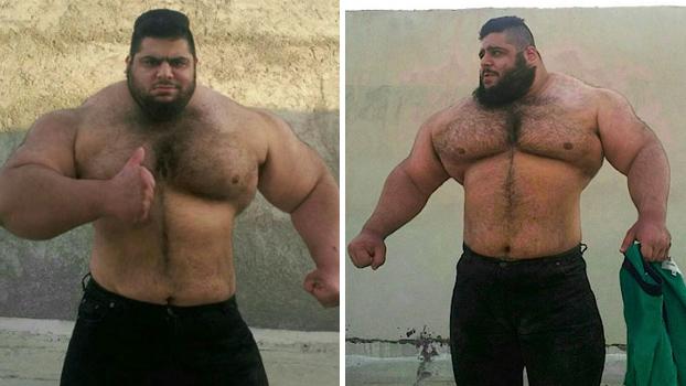 Sajad Gharibi, el Hulk iraní de 24 años de edad