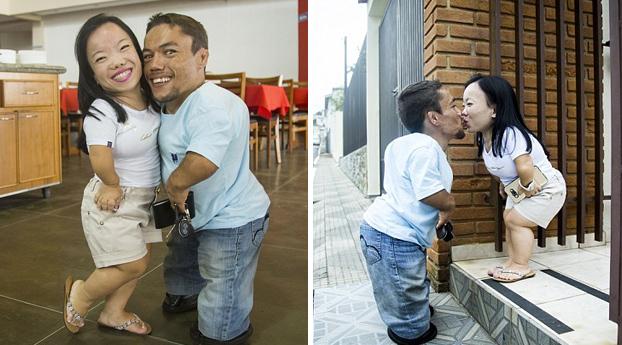 La pareja más baja del mundo dice que el tamaño no importa cuando hay amor