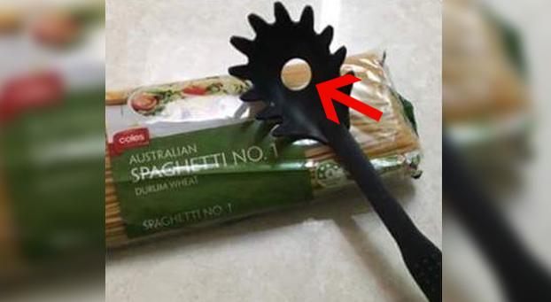 ¿Sabes para qué sirve el agujero de la cuchara de los espaguetis? Y no es para escurrir el agua...