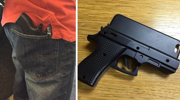 Detenido por llevar una funda de móvil con forma de pistola en el aeropuerto de Stansted