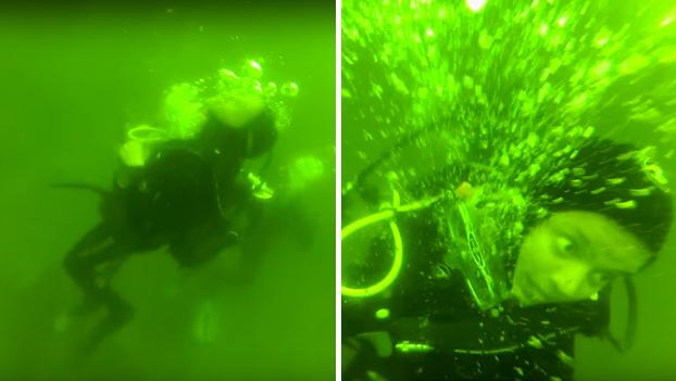 Esta mujer entra en pánico mientras que estaba buceando a 15 metros de profundidad