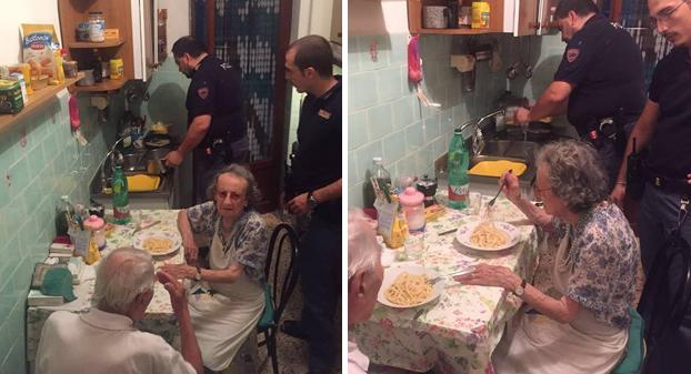 Unos policías se quedan a cenar con una pareja de ancianos que no paraban de llorar. El motivo te hará llorar también