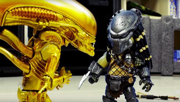 Dos meses y 6.000 fotos después sale esta maravilla de Alien vs Predator en Stop Motion