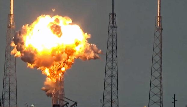 Así fue la explosión del cohete Falcon 9 de SpaceX. Adiós a 260 millones de dólares
