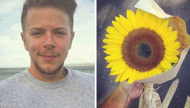 Un joven le regala un girasol a una desconocida que estaba llorando y se lleva la sorpresa de su vida