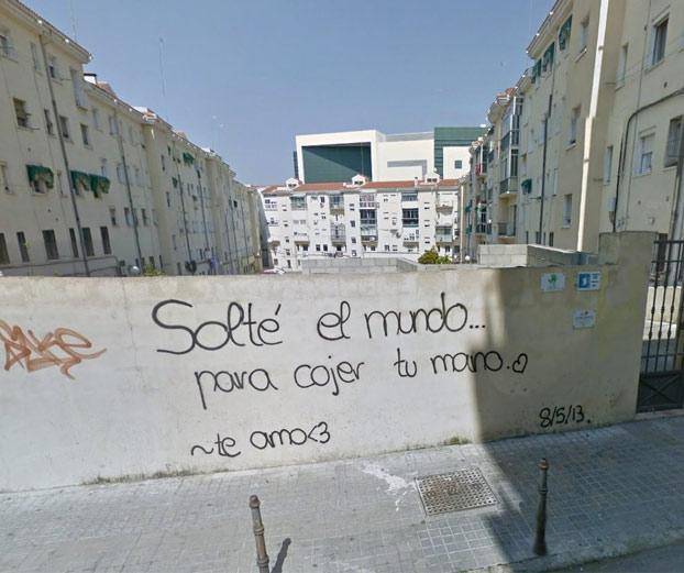 Cuando no aguantas que se escriba coger con 'j' en un graffiti
