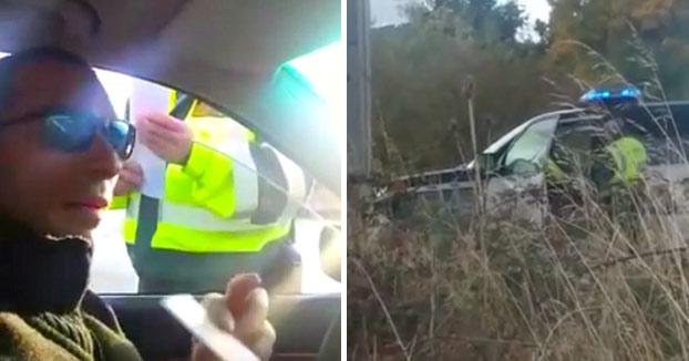 Un conductor sin ITV, sin carnet y sin seguro se va del control de la Guardia Civil (Vídeo)