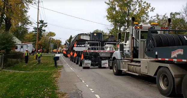 Un convoy que transportaba residuos nucleares se queda atascado en mi barrio