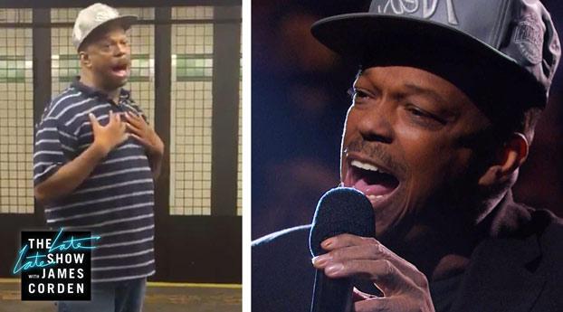 Mike Yung, nuestro amigo del metro de Nueva York, ha vuelto en el Show de James Corden