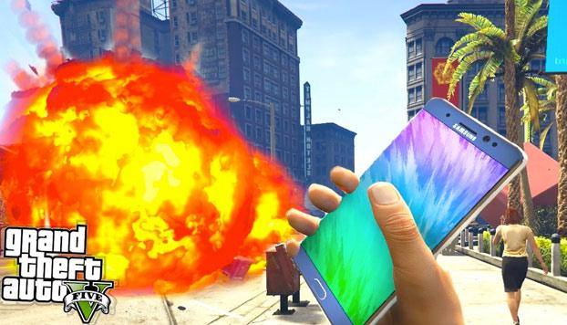 Samsung censura a Youtubers para que no usen el Galaxy Note 7 como bomba en GTA V