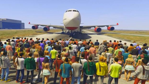 ¿Cuántas personas son necesarias en GTA V para detener un avión?