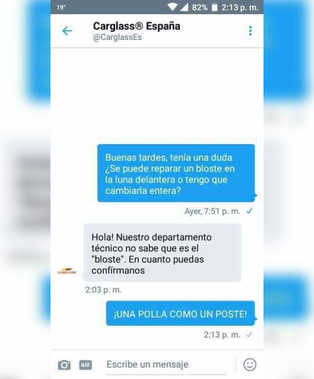 Carglass España no se toma muy bien las bromas de los trolls